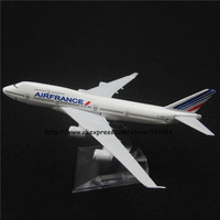16cm Alloy Metal Air France Airlines Airplane Model Boeing 747 B747 400 Airways Plane Model w Stand Aircarft Toy Gift