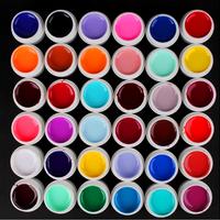 24 Color Solid Pure UV Builder Gel Set Nail Art False Full French Tips Salon Set DGMJ2002