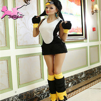 costume Sexy Black Penguin Dress Soft Fur Animal cosplay Fantasia Halloween Disfraces for Women christmas costumes XDW005