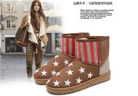 Women's flat Fur snow boots fashion winter shoes