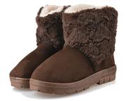 Women's Round Toe Fur snow Boots winter shoes