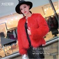 Free ShippingFall/winter fur coat faux grass fox fur coat