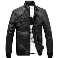 Free Shipping 2014 selling men's short skinny PU leather classic explosions