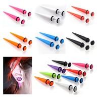 Trendy Acrylic Fake Ear Expander Plug Women/Men Multi Colors Transparent/Solid Arcylic Ear Taper Unisex Fake Taper Fake Ear Plug