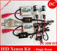 Free Shipping DC Xenon HID kit slim ballast H1 H3 H4lo H7 H8/H9/H11 H13 880/881/H27...4300k 5000k,6000k...30000k