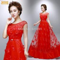 red wedding dress 2015 flowers vestido casamento vestidos de noiva a line sexy wedding dresses fashionable weddingdress 577