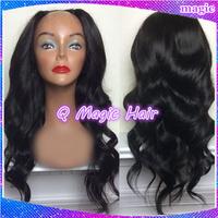 150%density ,Fast shipping 100% peruvian virgin hair u part human hair wigs body wave hair wig for black women