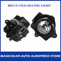 One Set Fog Light For Toyota Hilux Vigo 2014 Bumper Lamp Accessories Wire + Switch + Instruction
