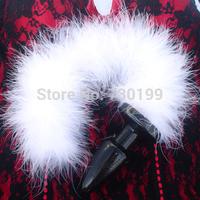 35*100mm Exotic White Fox Tail Anal Plug Flirting Dog Tail plug Soft Butt Plug Anal Masturbation sex toy adult toy T18