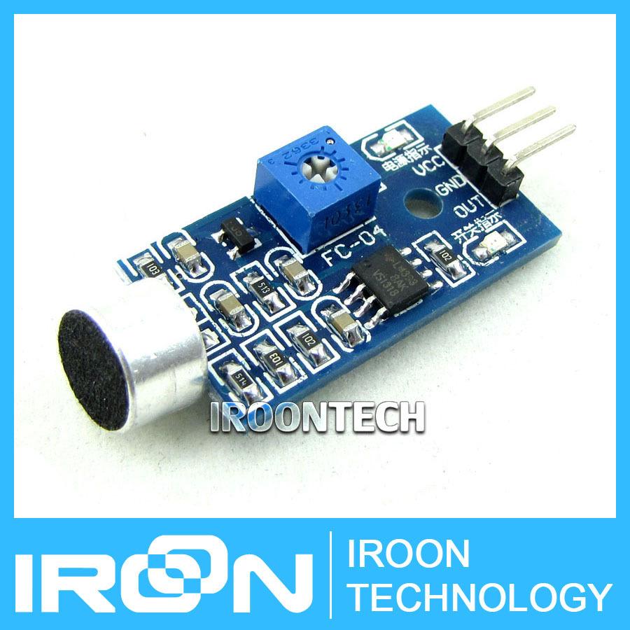 Sound Detection Sensor Module Sound Sensor Intelligent Vehicle For Arduino(China (Mainland))