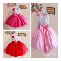 Hu Sunshine wholesale 2014 Summer fashion girls dresses princess mesh patchwork sequins print party/wedding dress ZLF111003H