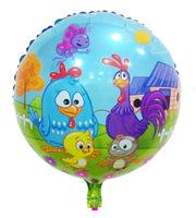 Cute Blue Round Galinha Pintadinhas Balloon Brazil Hot-selling birthday party decorations galinha pintadinha aniversario