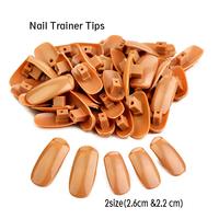 SaintRomy PRO Original Supply 100pcs including 2sizes 2.6cm + 2.2cm New Refiller false nail tips for Training Practice Hand