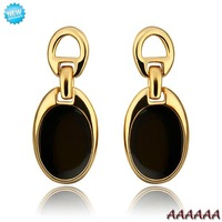 E819 Wholesale Nickle Free Antiallergic 18K Real Gold Plated Earrings For Women New Fashion Jewelry Free Shipping