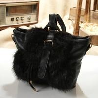 1111 New Arrival Gorgeous European High quality Fur Women's Handbag Messenger Bag, Women's Shoulder Bag, Tote Bag F008