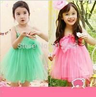 2015 new summer baby girls dress baby clothing Candy color beauty yarn princess dress,14NOV25