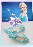 2014 Snow Queen Elsa Anime Cosplay Frozen Shoes Fashion Lolita Sweet Children's Shoes Wedge Cheap Blue Shoes c10
