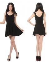 Free Shipping Women's Summer Dress Candy Pure Color Sleeveless O-neck Tank Dress Cute Fresh Sweet Slim One-piece Dress 22002