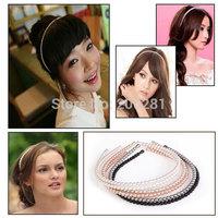 New Fashion Pearl Headband Women Multi Colors Full White Pearl Beads Headband Hairband Bridal Pearl Hairband Hair Accessories