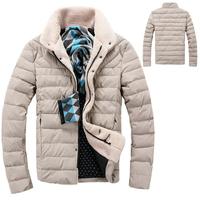 New arrival fashion autumn winter parka coat for men casual slim men's winter jacket 5 colors