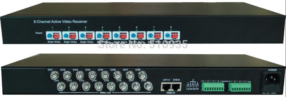 "CJ-818R 8 Channel Active UTP Video Receiver High-Density 19"", 1U Rack Mount , Active Video Balun for CCTV,BNC to UTP RJ45(China (Mainland))"