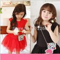 2015 new girl summer dress baby clothing girls tutu dress cotton kids clothting,14NOV12