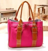 Free Shipping New Arrival Elegant Patchwork Canvas Women's Handbag Messenger Bag, Shoulder Bag, Tote Bag F006