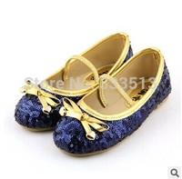 2014 New Frozen Elsa Princess Shoes Girls Shoes Shining Bling Children Shoes Kids Girls Sneakers Princess Bowknot