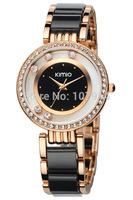 2014 New Brand Eyki Kimio watch Ladies women Luxury Bracelet dress Watches with Ceramic fine steel strap drop Wristwatches