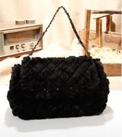 1111 New Arrival Gorgeous High quality Imitative Fur Women's Handbag Messenger Bag, Women's Shoulder Bag, Tote Bag, F009