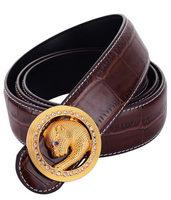 New Arrival Genuine leather men's vintage belt all- match belt for women good quality leopard head belts 5 candy color