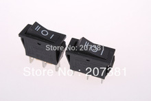 Alta qualidade 5 Pcs RL1-3 preto On Off On 3 pino SPDT interruptor elétrico(China (Mainland))
