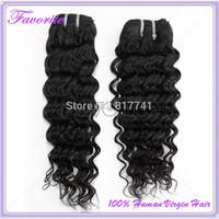 Brazilian Deep Wave 2PCs/Lot Ali Favorite Hair 6A Brazilian Virgin Hair Weaves Bundles Unprocessed Virgin Human Hair Extension