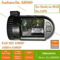 1080P Full HD Car Video Recorder 100% Original Mini0801 Ambarella A2S60 OV2710 Camera with SOS LDWS Night Vision without GPS/8GB