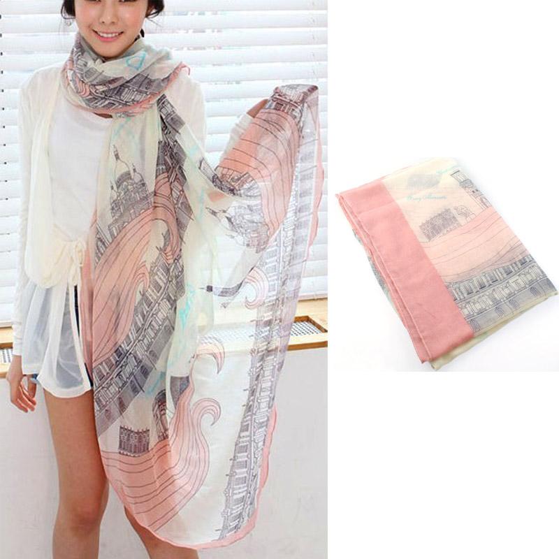 1pc Korean Style Lady Girl Nice Soft Print Cotton Long Scarf Shawl Wrap Gift(China (Mainland))