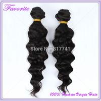 6A Malaysian Virgin Hair Deep Wave 2Pcs Lot Good Quality Unprocessed Virgin Malaysian Hair Weave Bundles, Human Hair Extension