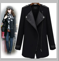 Free shipping Wholesale New Fashion Ladies' winter jacket high quality button women Zipper coat under promotion