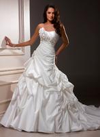 Modern country stylelong tail wedding dress wedding dresses R1129