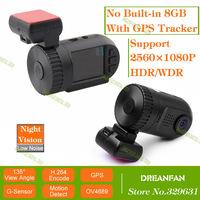 Promotion Orginal Car Camera DVRs Mini 0803 DVR Video Recorder with Ambarella A7+GPS+1296P Super HD+OV4689+H.264+WDR MF0805