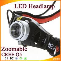 CREE Q5 Ultra Bright LED Headlamp Headlight Zoomable Head Light for Camping Hiking Cycling Climbing 500 Lumen lantern