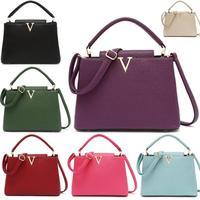 woman bags fashion 2014 designers casual-bag bolsas femininas famous brand V metal tote bag Large lady  handbags shoulder bag