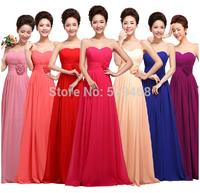 2014 winter fashion sexy formal dress strapless chiffon long design Bandage evening dress Party dresses