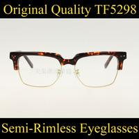 Hot Sale Optical Eyeglasses Half Frame TF5298 Eye Glasses Frames Oculos De Grau Femininos Masculino Gafas Nerd Glasses Eyewear
