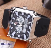 Watches men luxury brand T5 Sports Military Watch Dual time Digital Analog Quartz Watches Wristwatches Relogio Men Watch H3357G