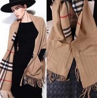 Desigual Scarf Women Winter Pashmina Shawl Cotton Scarves Plaid Brand Scaf  Men With Pocket