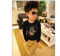 2014 European American big boy child sweater Dark Hound printing sweater Sweat shirts shipping