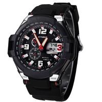 Mens Military Watch Sport Watch 2 Time Zone Backlight Digital Quartz Chronograph Dive Led Watches Men Wristwatches