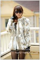 2015 New Women Warm Winter Real Natural Rabbit Fur Coat Free Shipping plus size waistcoat Free Shipping TP125B