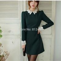 Hot New 2014 Midi Dress Business Women Work Wear Autumn Dress Winter Party Evening Bodycon Pencil Formal Dresses