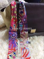2014 BRAND colorful small ribbon belt 100% real silk 32*2 inch bind bag headband real shot national high quality woman scarf